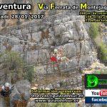 Cartel Ferrata Montejaque 28-01-2017